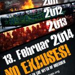 Aufruf unterstützen! No Excuses - Dresden 2014